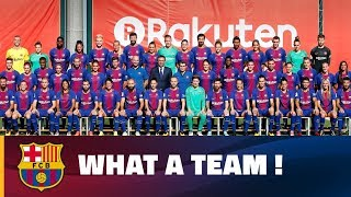 Fc barcelona's first team and women's posed together friday for the 2017/18 season's official picture, which included all members of both teams, the...