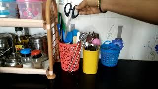Kitchen Countertop Organization | Small Kitchen Organization Ideas | Indian Kitchen