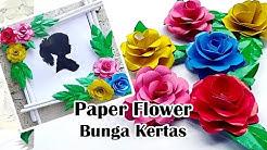 Tutorial Paper Flower Bunga Kertas Dengan Mudah Contoh Bingkai Pigura Bunga