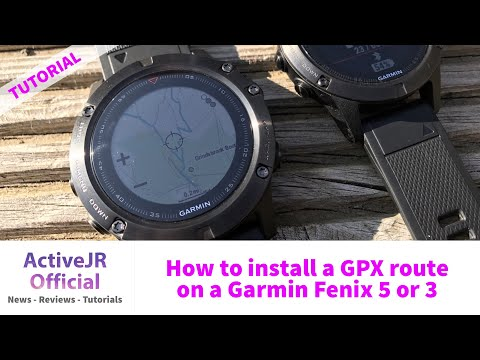 ce501cdfaa6 How to install a GPX course into the Garmin Fenix 5 and 3 for Navigation -  YouTube