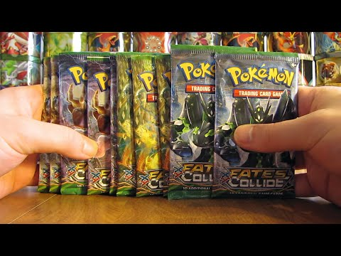 10 Pokemon Fates Collide Booster Pack Opening