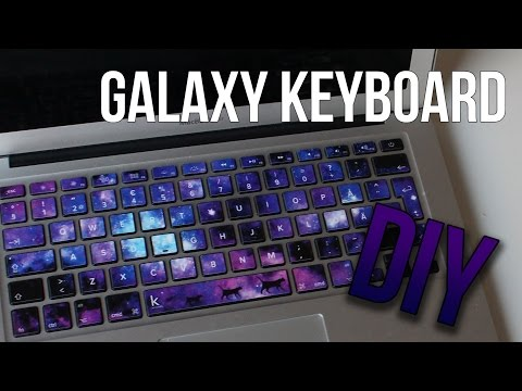 ☆ Galaxy Keyboard DIY ☆ So Tumblr very wow