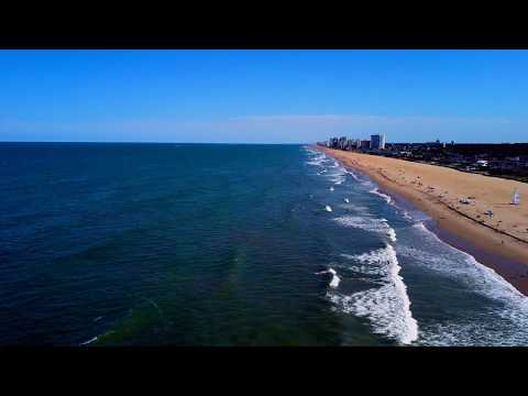 DJI Virginia Beach Oceanfront Drone View