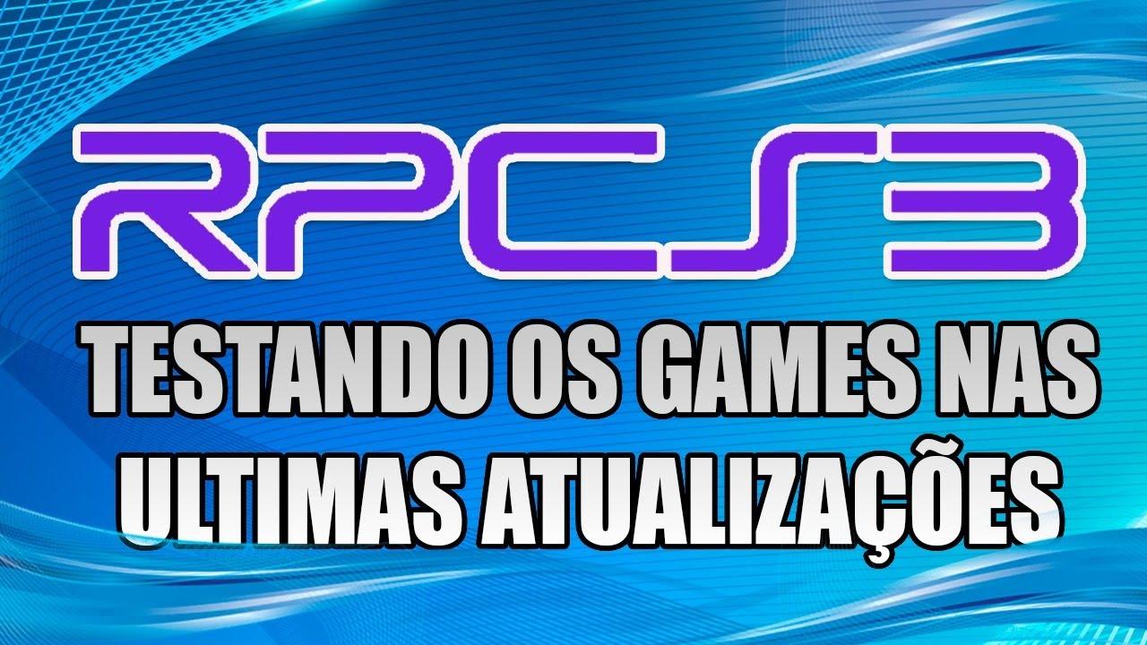 RPCS3 | EMULADOR DE PS3 | TESTANDO OS GAMES NAS ÚLTIMAS BUILDS | AMD RYZEN 3600 AO VIVO!!!