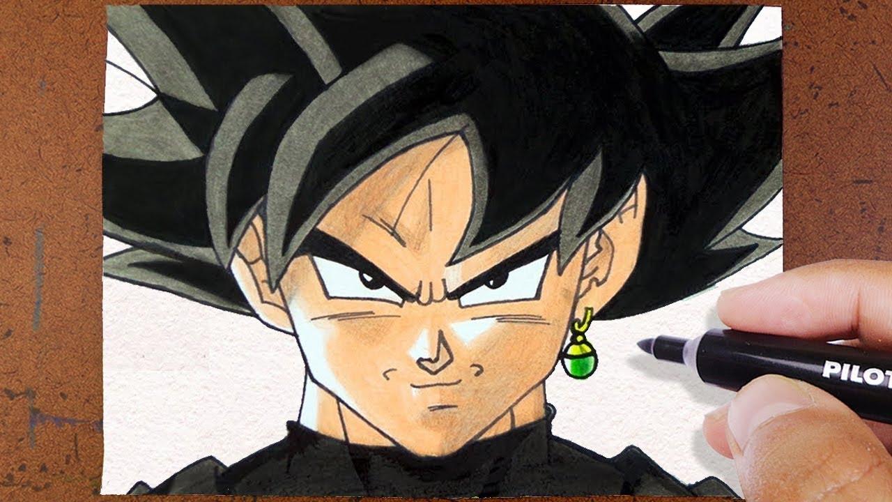 Desenhos Para Colorir Colorir Goku: COMO Desenhar GOKU BLACK Dragon Ball Super, COLORINDO