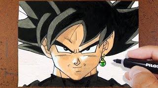 Como desenhar Goku Black, Dragon Ball Super How to Draw