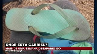 Gabriel está desaparecido há mais de uma semana