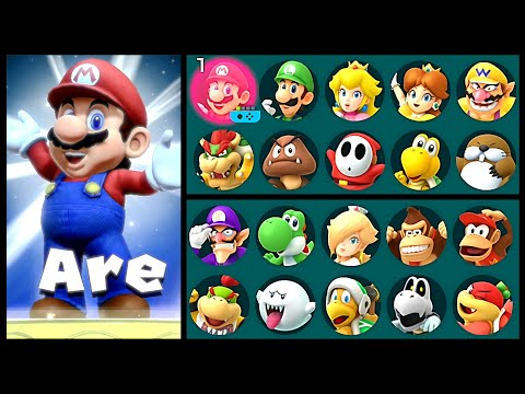 Super Mario Party All Characters Super Star Animations