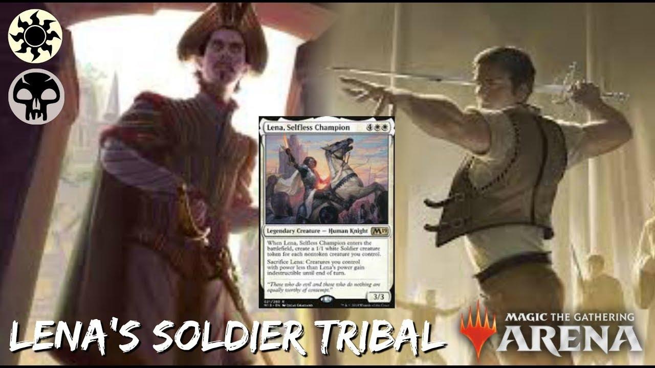 zaoszczędź do 80% kupić zamówienie online Lena's Soldiers [MTG Arena]   WB Soldier Tribal in M19 Standard