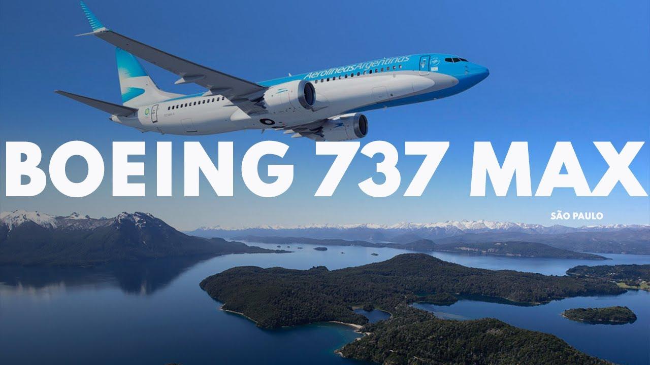 BATISMO BOEING 737 MAX 8 AEROLINEAS ARGENTINAS