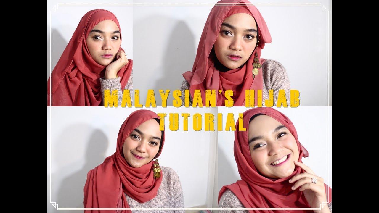 4 Tutorial Hijab ala Malaysia Buat Lebaran  Ditutorialin Mira Jasmen!  Rafchannisa  YouTube