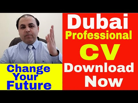 Create Professional CV 2018 For Dubai Jobs | Download CV | Jobs In Dubai