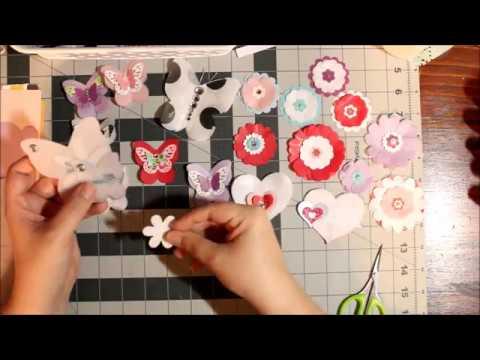 DIY Tissue Paper Embellishments ~ Butterflies & Flowers
