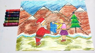 How To Draw Scenery With Oil Pastels Easy Free Online Videos Best