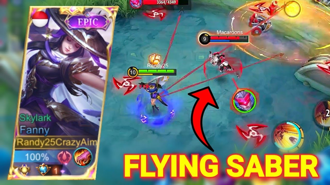 SABER AND KAJA COUNTERS FANNY? Hard Game Parah | Mobile Legends