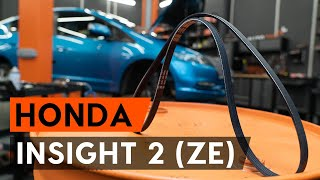 HONDA INSIGHT (ZE_) Gumiharang Készlet Kormányzás beszerelése: ingyenes videó