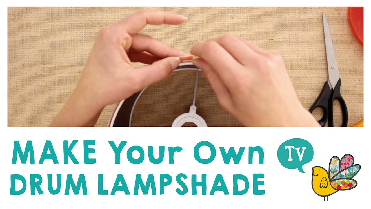Make your own drum lamp shade youtube make your own drum lamp shade mozeypictures Gallery