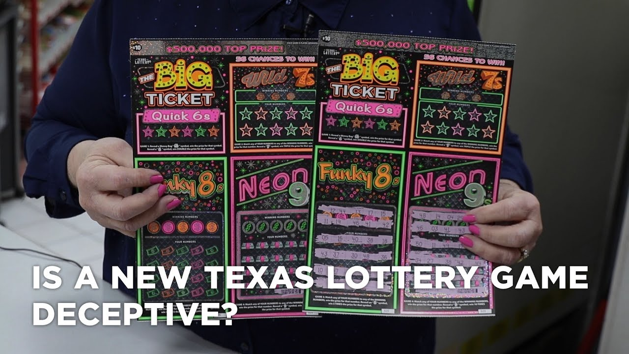 Is a new Texas lottery game deceptive? Does Texas do this