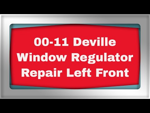 Cadillac deville window regulator replacement youtube for 2000 cadillac deville window problems