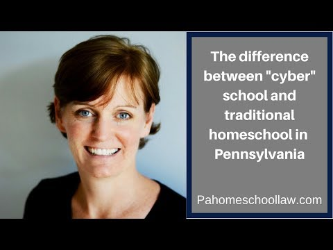 "The difference between ""cyber"" and traditional homeschool under PA homeschool law"