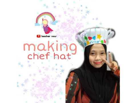 art & craft | making chef hat | kindergarten occupations theme