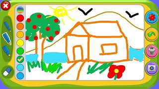 Drawing Game - How do draw a house - Piano Kids Music and Songs