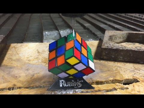 Rubik's Cube vs A 60,000 PSI Waterjet