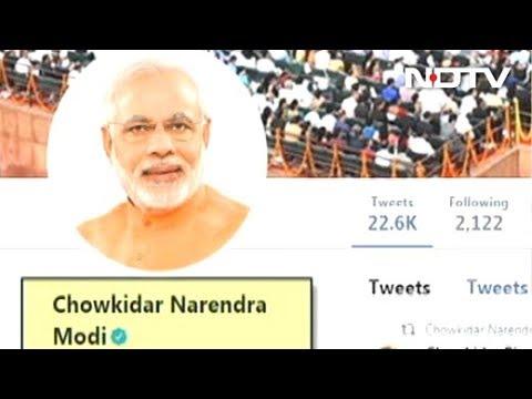 """""""Chowkidar Narendra Modi"""": PM Adds Prefix On Twitter, Top Leaders Follow"""