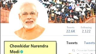 """Chowkidar Narendra Modi"": PM Adds Prefix On Twitter, Top Leaders Follow"