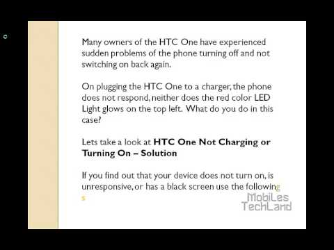 HTC One Not Charging or Turning On - Solution