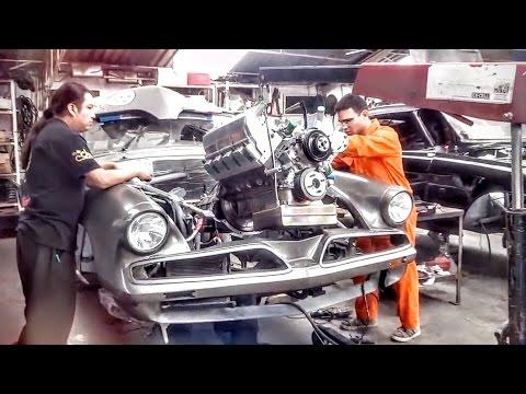Preparación del Studebaker 122 del tricampeón de La Carrera Panamericana Gabriel Pérez