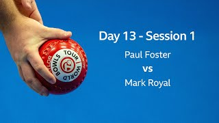 Just. 2020 World Indoor Bowls Championships: Day 13 Session 1- Paul Foster MBE vs Mark Royal thumbnail