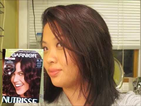 Garnier Nutrisse Ultra Color Reflective Auburn Black Does It Work On Dark Hair You