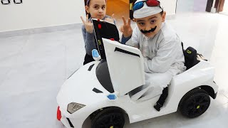 حمودي ومريم يلعبان بالسيارة الجديدة!!