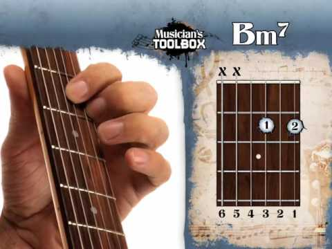 How to play the B minor 7 chord on guitar Bm7 - YouTube