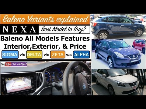 Maruti Baleno 2018 Variants Explained | Sigma,Delta,Zeta,Alpha Features,Price,Interior and Exterior