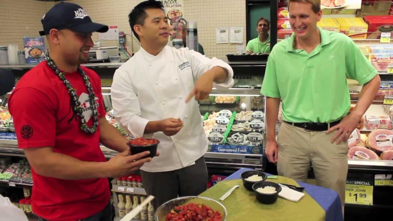 Shane Victorino Introduces The Flyin Hawaiian Poke At Foodland