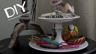 Dollar Tree Diy! Jewelry/dessert 2-tier Display Stand