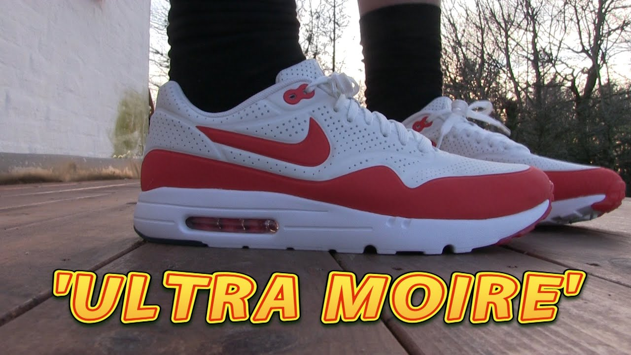 Nike Air Max 1 Ultra Moire (Summit White & Challenge) On Feet