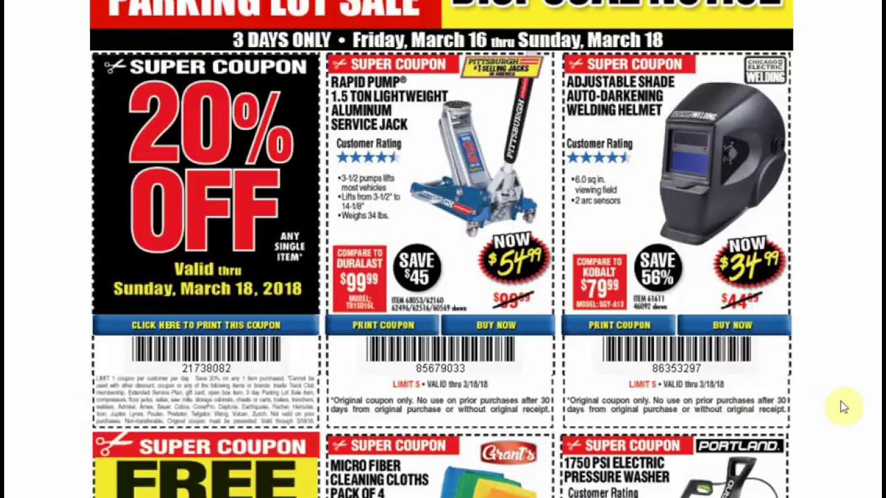 Harbor Freight Parking Lot Sale Extended Expanded Great Deal For