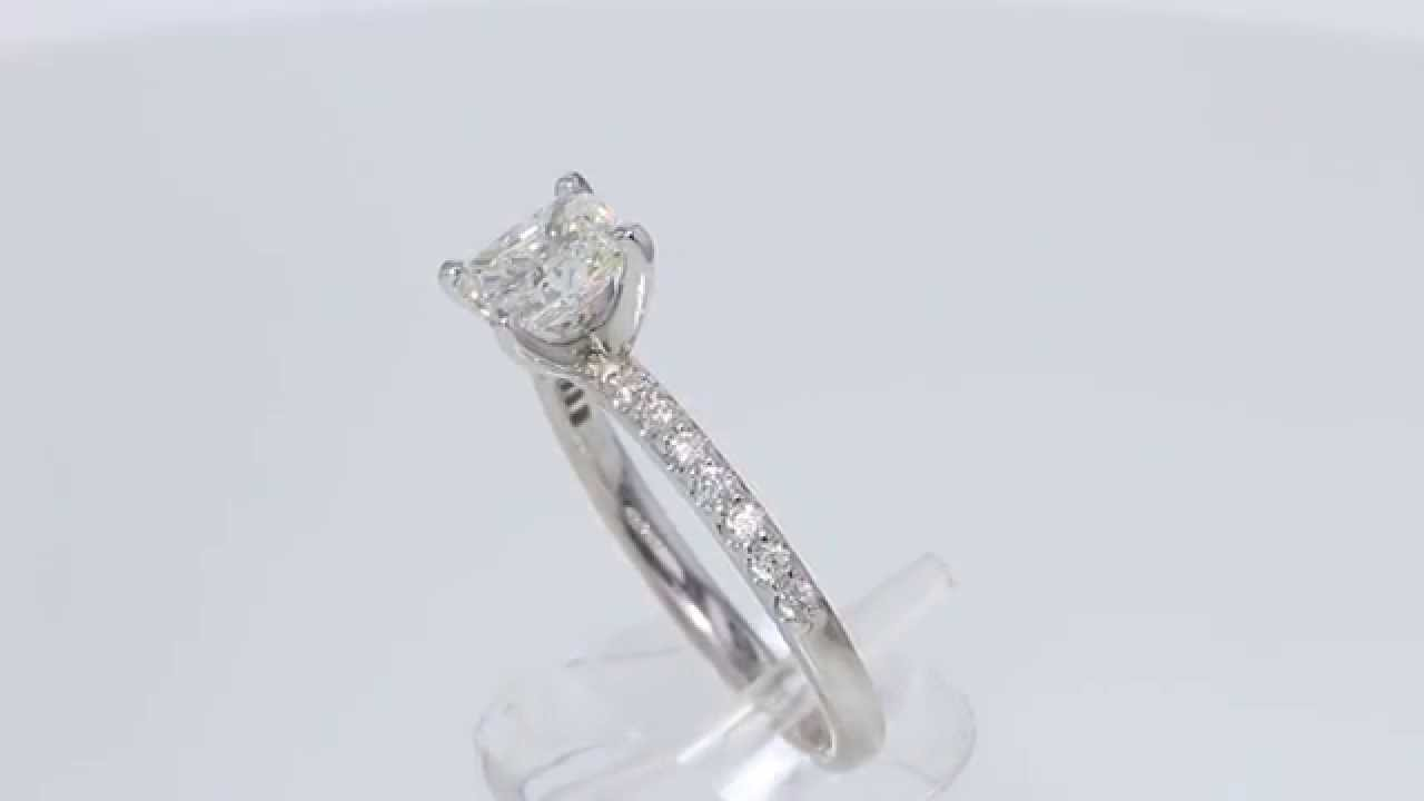 1 21CT Radiant Diamond Engagement Ring GIA Lab Certified and Appraised at $8