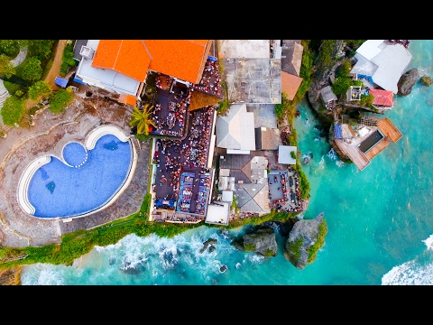 Single Fin Bali Drone View Surfing Barrels & Partying by Indo Eye