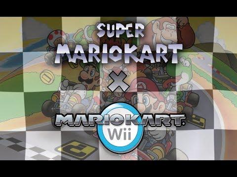 All SNES Super Mario Kart Tracks (as Mario Kart Wii Custom Tracks)