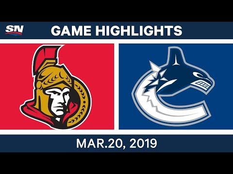 NHL Game Highlights | Senators vs. Canucks - March 20, 2019