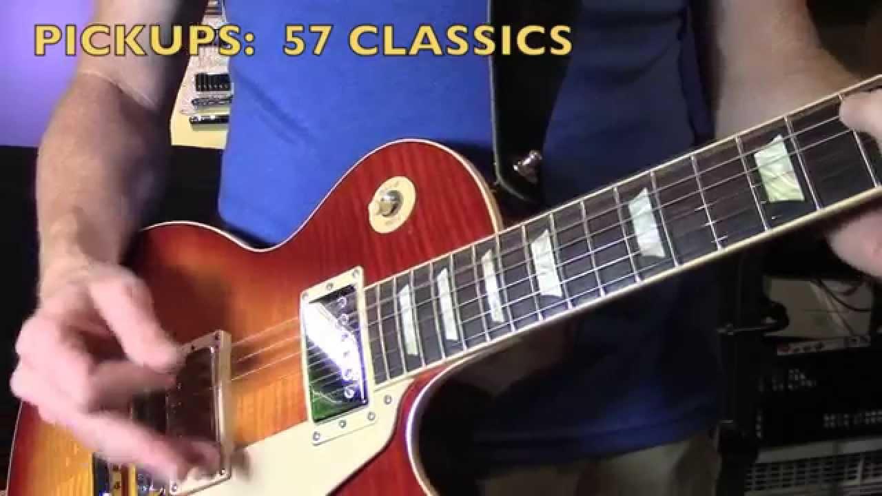 Guitar Tone Gibson Pickup Shootout 57 Classic Plus Vs Burstbucker Wiring Diagram For Pro Youtube
