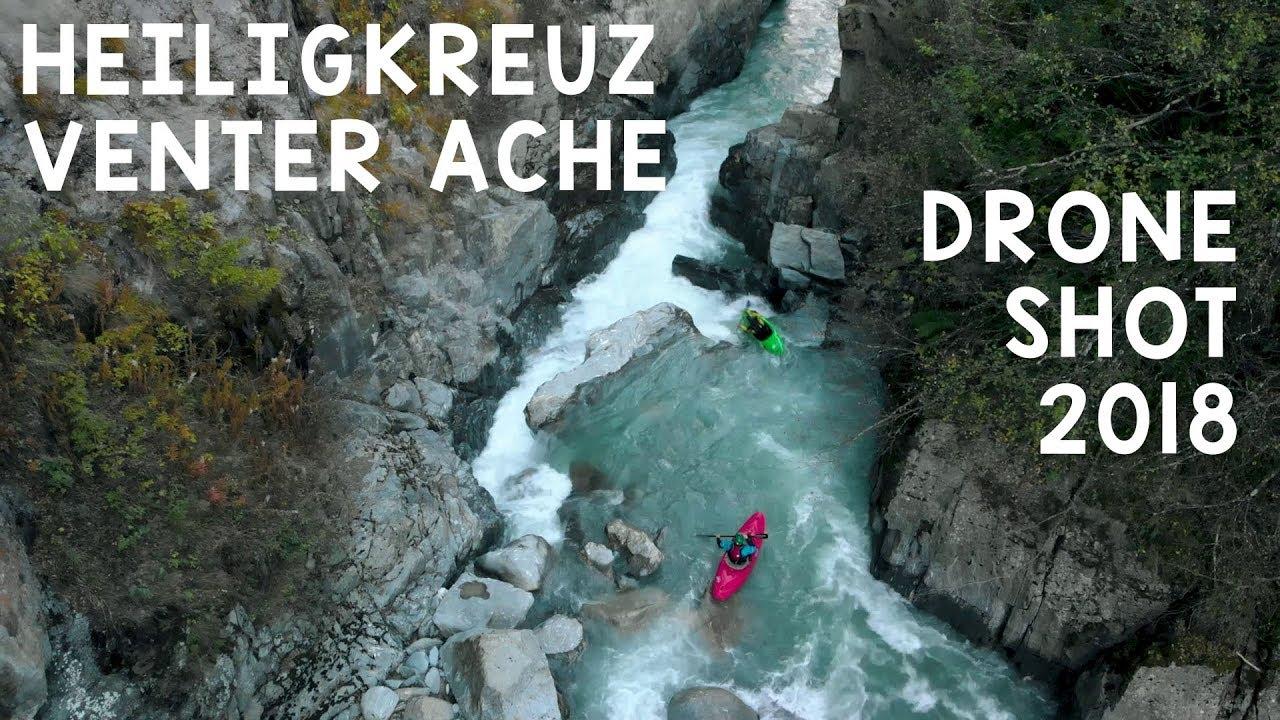 Heiligkreuz - Venter Ache - Ötztal via Drohne - YouTube