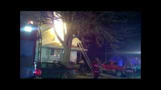 Newark Ohio Fire Department Wellington Avenue fire 2-25-12 Fire Command