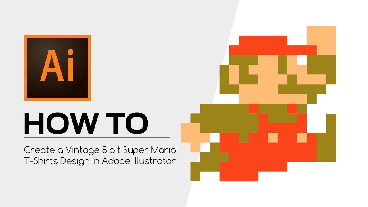 Vintage 8 How To Create A Vintage 8 Bit Super Mario T Shirts Design In Adobe Illustrator