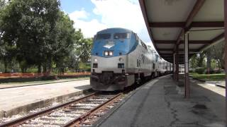 Amtrak Train No. 98 (Silver Meteor), Station Stop in Winter Park, Florida