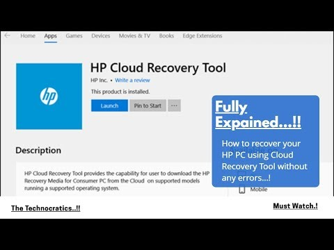 HP Cloud Recovery Tool ..! | HP 2019 Users Must Watch Video For Their Product